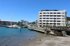 Clyde Quay Wharf-und Ufergegend Wellington-Hafen Stockfoto