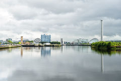 Clyde River view, Glasgow, Scotland, UK Royalty Free Stock Photography
