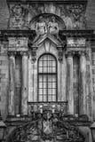 Clydebank urzędu miasta okno Mono Fotografia Royalty Free