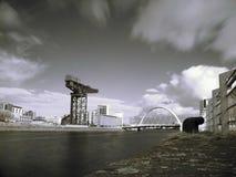 Clyderivier van Glasgow Stock Foto's