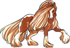CLYDESDALE HORSE Royalty Free Stock Images