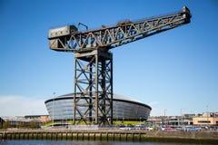 Clydesiden, Glasgow, Skottland, UK arkivbilder