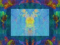 Clymnestera in Blauwe Sinaasappel en Groen Stock Afbeelding