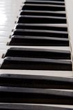 Clés d'un piano photos stock