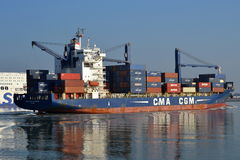 CMA CGM Aristote inbound Rotterdam Royalty Free Stock Images