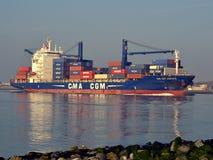 CMA-CGM Aristote Inlands-Rotterdam Lizenzfreie Stockfotos