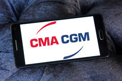 Cma cgm shipping company logo Royalty Free Stock Photo