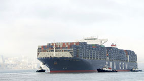 Free CMA CMG BENJAMIN FRANKLIN Departing The Port Of Oakland Royalty Free Stock Image - 89611766