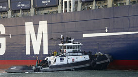CMA CMG BENJAMIN FRANKLIN partant le port d'Oakland image stock