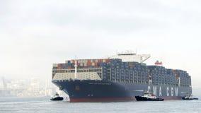 CMA CMG BENJAMIN FRANKLIN partant le port d'Oakland image libre de droits