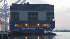CMA CMG BENJAMIN FRANKLIN preparing for departure from the Port Stock Photography