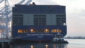 CMA CMG BENJAMIN FRANKLIN se préparant au départ au port photographie stock