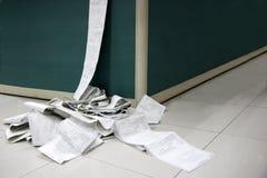 CMA logistyk biuro drukujący dokumenty Zdjęcia Stock