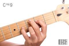 Cmaj9 σεμινάριο χορδών κιθάρων Στοκ φωτογραφία με δικαίωμα ελεύθερης χρήσης