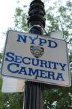 Câmara de segurança de New York City na área Imagens de Stock