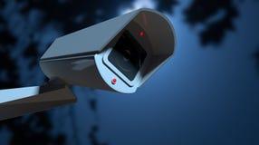 Cámara de vigilancia en la noche Foto de archivo