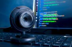 Câmara de vigilância da Web Fotos de Stock Royalty Free