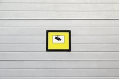 Câmara de vigilância do sinal Imagem de Stock