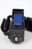 Câmara digital com o cartão de memória do sd Fotos de Stock