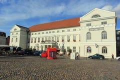 Câmara municipal em Wismar Fotos de Stock Royalty Free