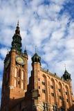 Câmara municipal principal em Gdansk Fotografia de Stock