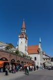 Câmara municipal velha de Munich em Marienplatz, Alemanha, 2015 Imagem de Stock