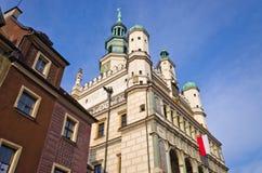 Câmara municipal velha em Poznan, Polônia Fotografia de Stock Royalty Free