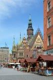 Câmara municipal velha em Wroclaw - Polônia Imagem de Stock Royalty Free