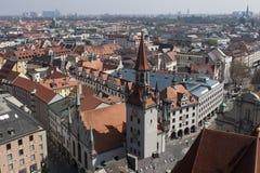 Câmara municipal velha Munich Alemanha Fotografia de Stock