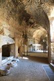 Cámaras acorazadas del amphitheatre romano en Lecce, Italia Fotografía de archivo libre de regalías