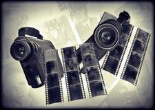cámaras digitales y película de los años 80 Foto de archivo libre de regalías