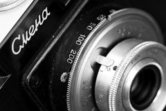 Cmena photo camera lens closeup Stock Images