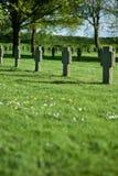 cmentarniani krzyże wiosłują zmierzch Zdjęcie Royalty Free