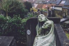 Cmentarniani zabytki i grobowowie w Ghent, Belgia obrazy stock