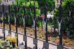 Cmentarniany żołnierz nieprzyzwyczajony, krucyfiks Obraz Royalty Free
