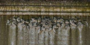 Cmentarniany Headstone przy sawanny Gruzja historycznym cmentarzem zdjęcia stock