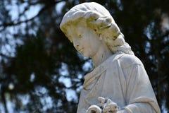 Cmentarniany Headstone przy sawanny Gruzja historycznym cmentarzem obraz royalty free