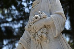 Cmentarniany Headstone przy sawanny Gruzja historycznym cmentarzem fotografia royalty free
