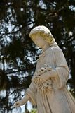 Cmentarniany Headstone przy sawanny Gruzja historycznym cmentarzem fotografia stock