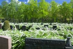 Cmentarniany Hietaniemi przy letnim dniem Zdjęcie Stock