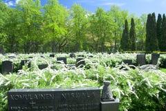 Cmentarniany Hietaniemi przy letnim dniem Obraz Royalty Free