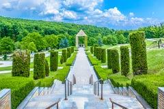 Cmentarniany Mirogoj w grodzkim Zagreb obraz stock