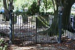 Cmentarniany wejście fotografia stock