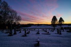 Cmentarniany zmierzch Fotografia Stock