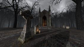 cmentarz royalty ilustracja