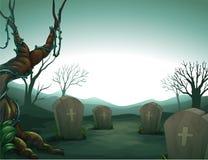 Cmentarz ilustracja wektor