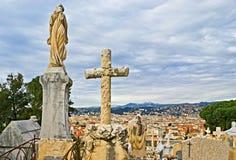 Cmentarz Ładny Zdjęcie Royalty Free