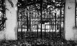 Cmentarz bramy obraz royalty free
