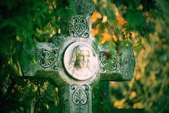 cmentarz, Chrystus zdjęcie royalty free