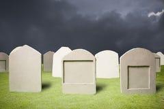 cmentarz ciemna noc Obraz Royalty Free